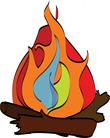 burning ifre wood