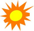 bright shining sun