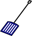 blue shovel