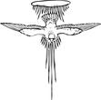 designer eagle clipart