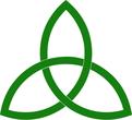 three interwoven leaves