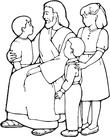 saint with kids