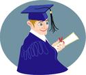 young graduating boy