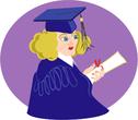 young graduating girl