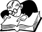 professor reading book
