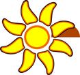 rotating sun fan