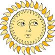 feminine sun face