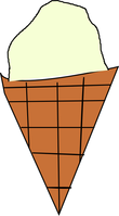 single flavor ice cream cone
