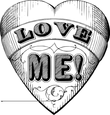 Love Me heart symbol