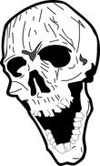 open mouth skull