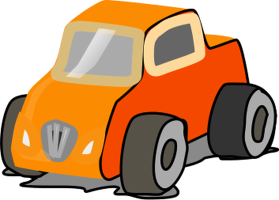mini dumper car clipart