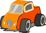 mini dumper car clipart