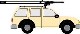 military weapon carrying car clipart