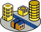 residential plot icon