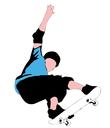 skater flying high