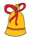 ribboned gift bell