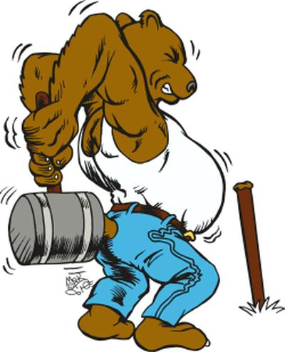 Bear with hammer