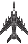 black colored aircraft