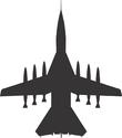 rocket loaded jet plane