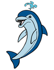 blue jumping dolphin