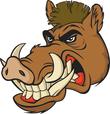 Wild boar ferocious face
