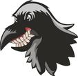 Wild bird mascot head