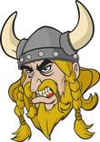 Mascot of viking man