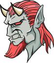 Devil mascot head