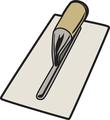 Rectangle spatule