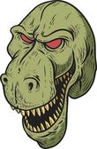 Dinosaur mascot head