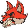 Mascot of angry fox head