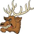 Deer mascot head