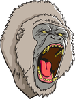 Gorillas angry face mascot