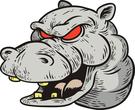Hippo mascot head