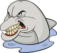 Angry whale