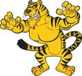 Angry yellow tiger