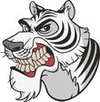 Ferocious tiger mascot
