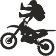 Motobiker performing