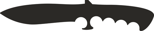 Militaty knife silhouette