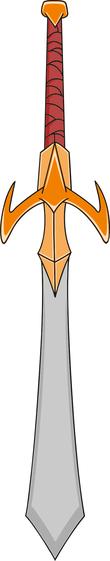 Cartoon game sword