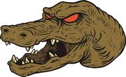 Crocodile mascot head