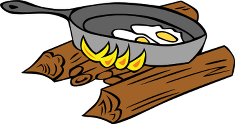 omelette on pan