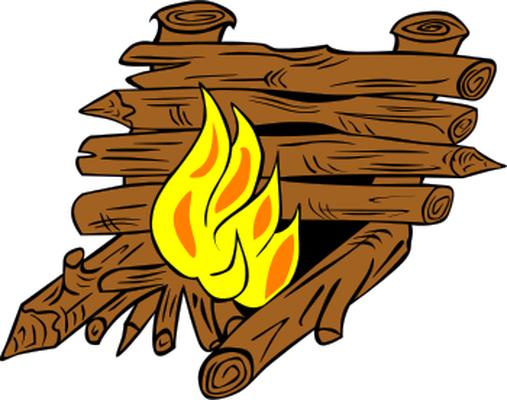 wooden logs fire place