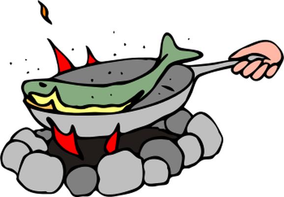 fish fried on pan