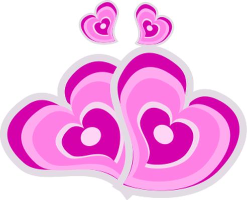 pink love hearts
