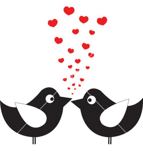 Vogels hartjes