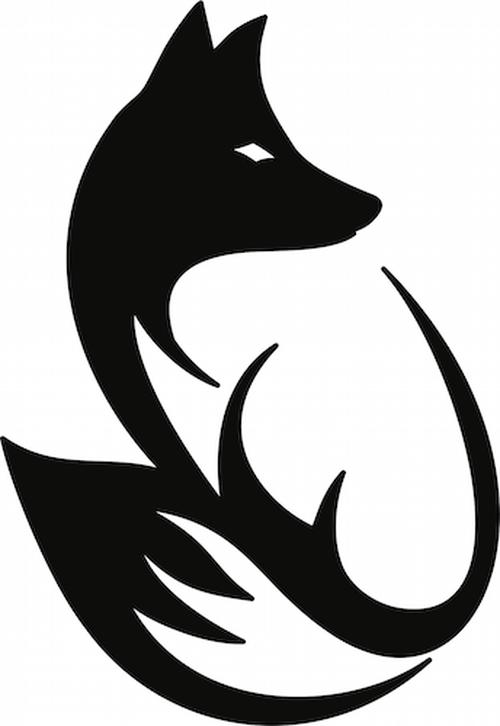 Sitting mountain fox